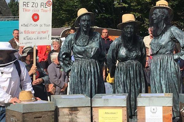 Les apiculteurs en colère à Carhaix (29)