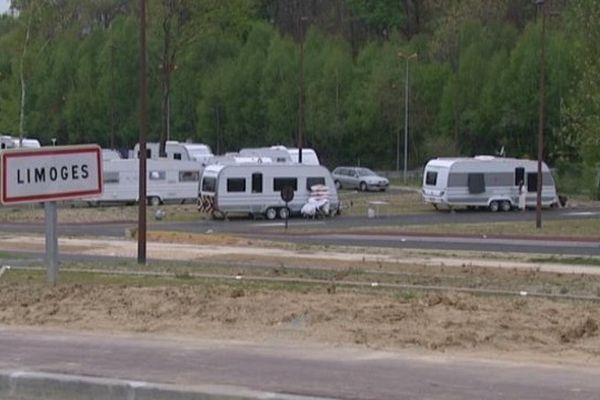 Caravanes stationnées illégalement à Limoges- avril 2014