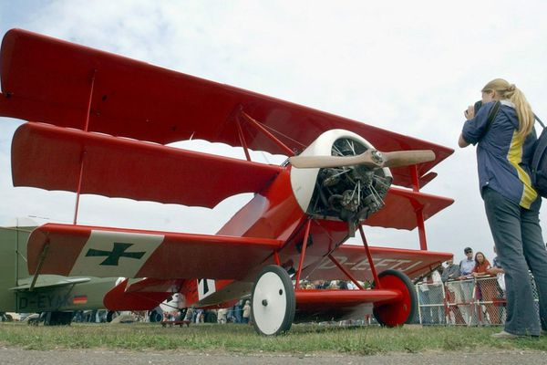 Une réplique de l'avion du Baron Rouge.