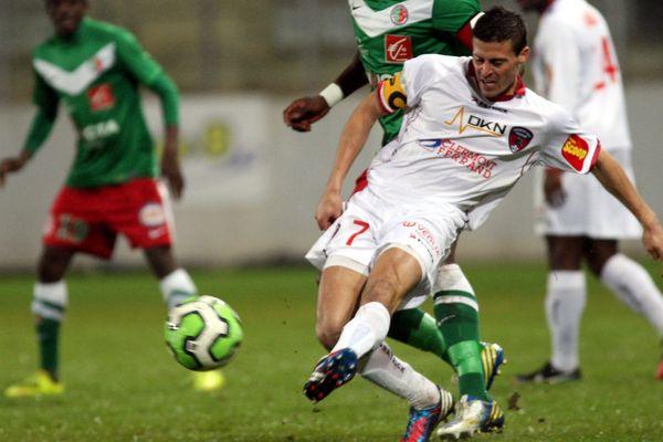 Le clermontois Nicolas Bayod lors de la rencontre entre le CS Sedan et le Clermont Foot (1-1), le 1er février 2013 à l'occasion de la 23ème journée de Ligue 2