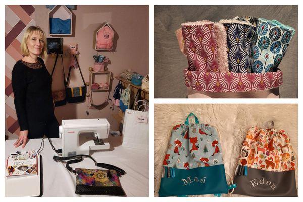 Clotilde Simon se lance à temps plein dans son auto-entreprise de couture et broderie.