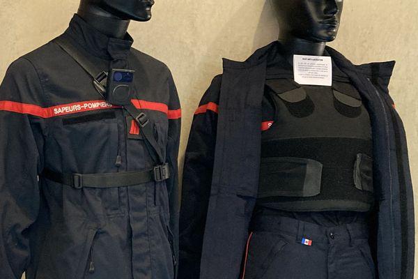 La caméra piéton et le gilet anti-lacération, pour protéger les pompiers de l'Oise