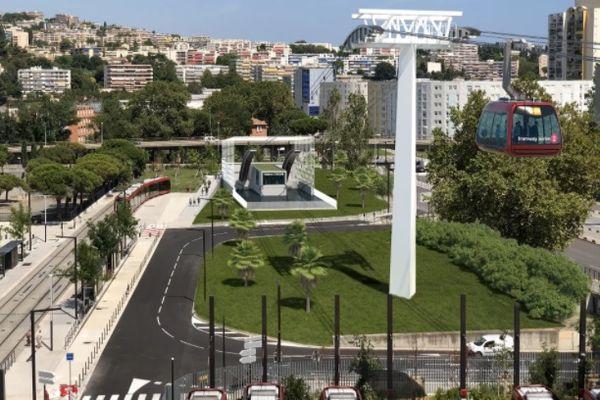 Image du projet du téléphérique entre Nice et Saint-Laurent-du-Var.