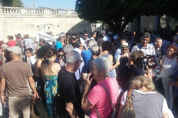 Le rassemblement contre l'islamophobie, samedi matin, à Auch