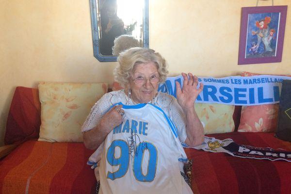 Marie Tolus, à 93 ans, elle compte 65 ans d'amour avec l'OM.