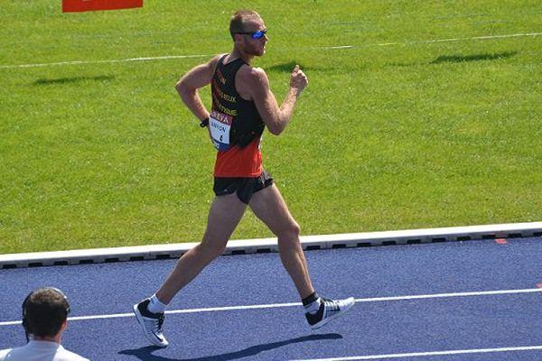 Kevin Campion, champion de France 2015, du 10 km marche