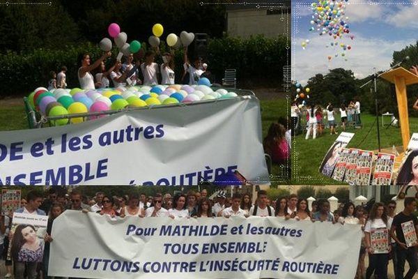 Un lâcher de ballons a précédé la marche blanche pour Mathilde