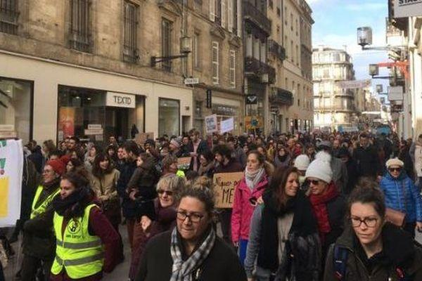 Près de 2000 personnes ont participé à la marche pour le climat ce dimanche 27 janvier à Bordeaux