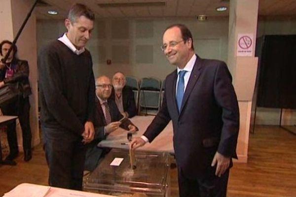François Hollande à Tulle ce matin