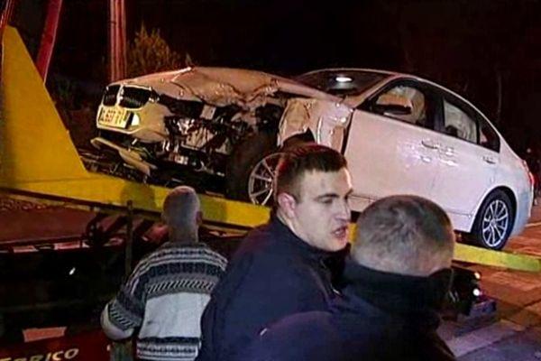 Le véhicule volé par les délinquants deux jours avant le drame.