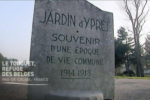 Stèle du Jardin d'Ypres au Touquet