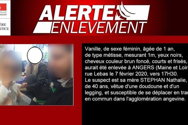 La petite vanille a été enlevée le 7 février 2020 à  Angers