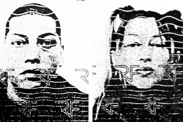Photo prise le 6/08/2008. Il s'agit de la photocopie des cartes d'identité de Stephane Moitoiret et Noella Hego's.
