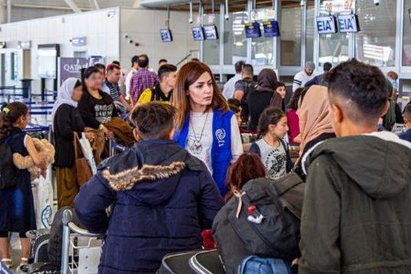 Plus de 130 membres de la communauté yézidie ont quitté l'aéroport international d'Erbil pour Toulouse