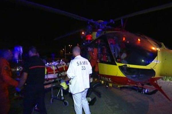 L'accident a eu lieu au passage à niveau 498 sur la commune de Gauriaguet
