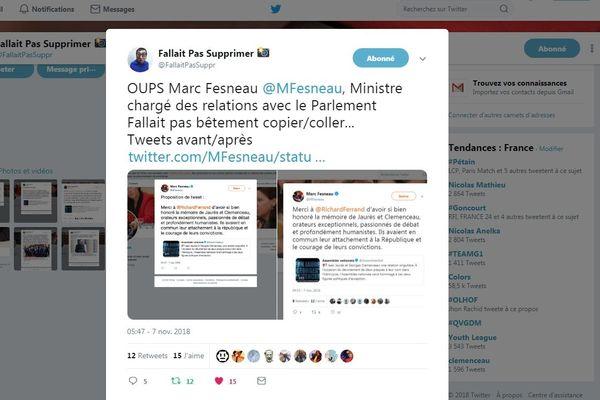 """Le compte """"Fallait pas supprimer"""" a exposé une maladresse du ministre Marc Fesneau"""