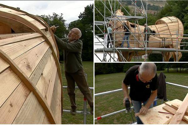Un cheval de Troies de six mètres de haut a été construit pour marquer l'ouverture du festival Berlioz.