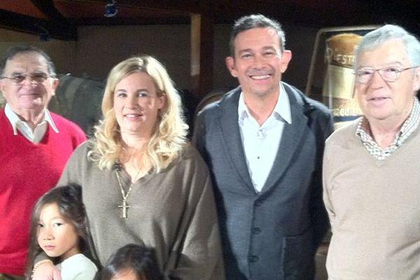 Hélène Darroze en famille en compagnie d'Éric Perrin