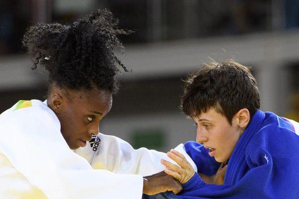 JO de Rio, Priscilla Gneto face à la suisse Evelyne Tschopp.