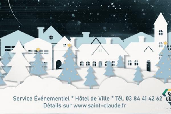 Contrairement à ce que disait l'affiche, pas de restauration sur place au marché de Noël de Saint-Claude.