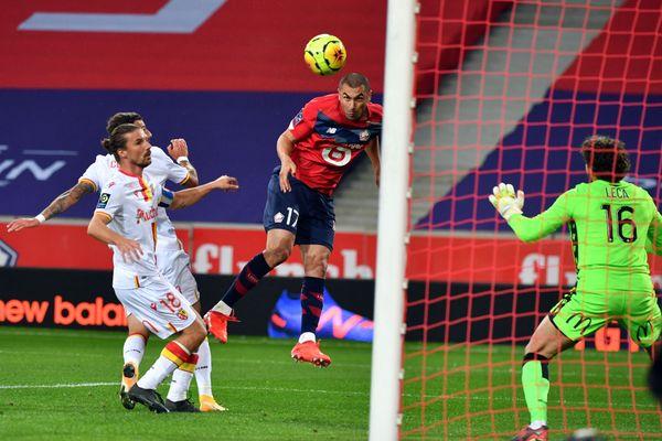 Le but du Lillois Burak Yilmaz au match aller le 18 octobre 2020