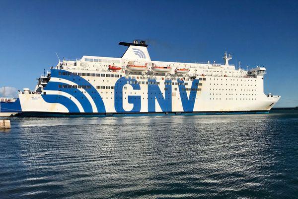 Le navire GNV avec à son bord 800 passagers a pu accoster à Sète en fin d'après-midi.