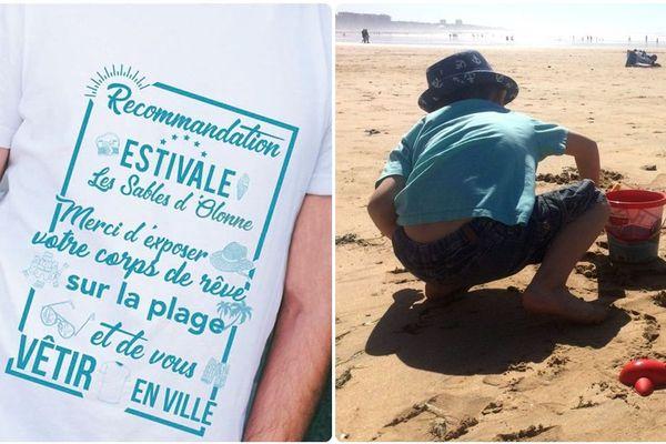 """Aux Sables d'Olonne, """"Merci d'exposer votre corps de rêve sur la plage et de vous vêtir en ville"""""""