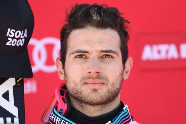 Mathieu Faivre à l'issue de son slalom géant d'Alta Badia.