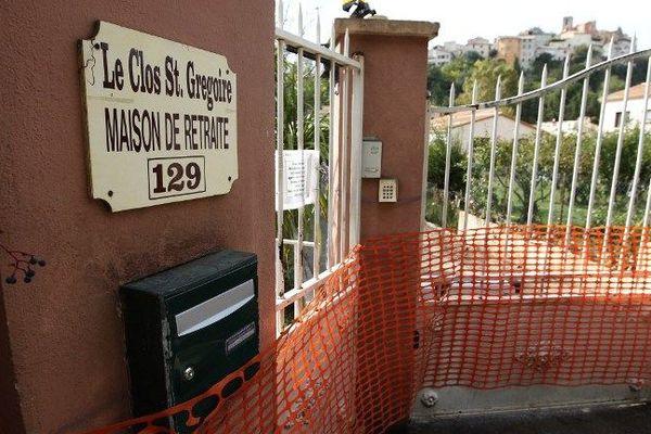"""La maison de retraite """"Le Clos saint-Grégoire"""" où trois pensionnaires ont perdu la vie cette terrible nuit du 3 au 4 octobre."""