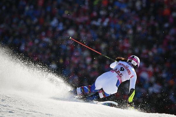 La skieuse française Nastasia Noens lors des Mondiaux de ski alpin, le 16 février 2019 à Are (Suède).