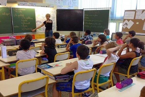 Carcassonne - des écoliers préparent un pièce de théâtre sur le handicap - 11 juin 2014.