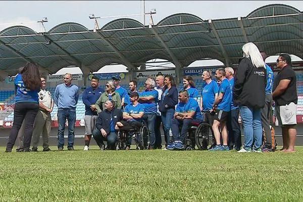 8 vétérans blessés de l'armée française sont venus se préparer aux Invictus Games dans les Pyrénées-Orientales, ici au centre d'entraînement de l'USAP