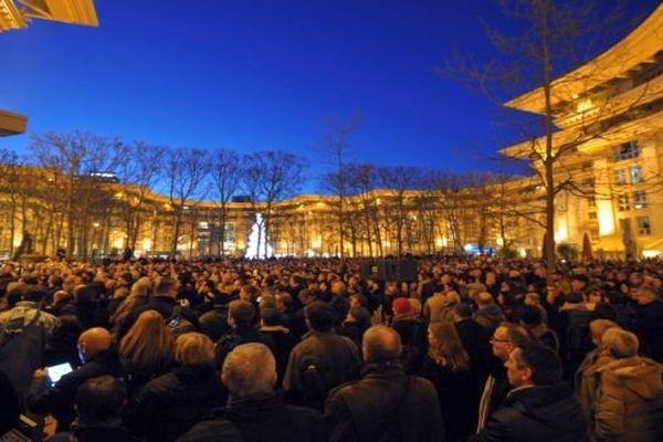 Montpellier - rassemblement pour Charlie - 7 janvier 2015.
