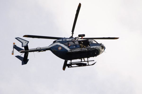 Un hélicoptère de la gendarmerie nationale a participé aux recherches ce samedi dans secteur nord est de Bayeux