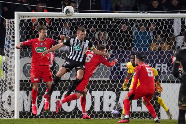 Le SCO Angers s'incline (5-4) face au Stade Rennais en 8e de finale de Coupe de France, le 28 janvier 2020