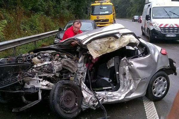 L'accident a eu lieu hier vers 15h30