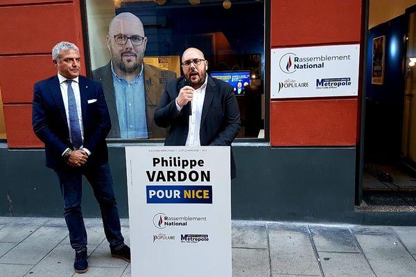 Le chef des députés Européens de la Lega, Marco Campenosi, était présent ce dimanche 12 janvier, aux côtés de Philippe Vardon.
