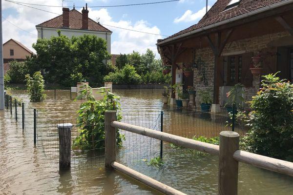 Rue de l'Ecotet, à Louhans (Saône-et-Loire) ce samedi 17 juillet.