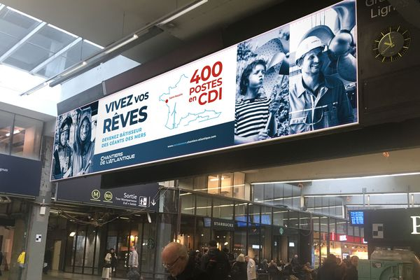 L'un des visuels prévus à la gare Montparnasse de Paris en août 2019