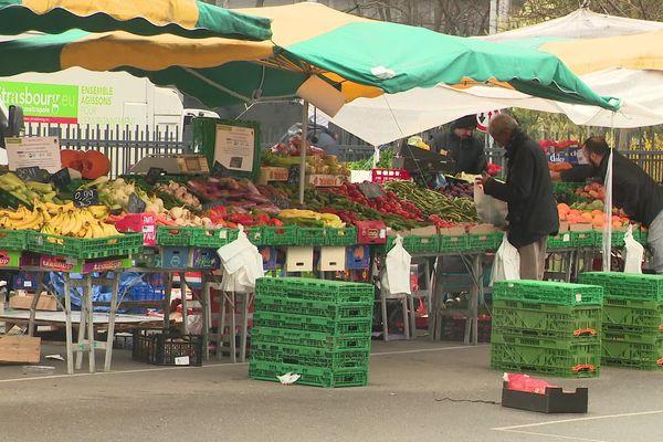 Au marché de Strasbourg-Hautepierre, le 21 mars dernier