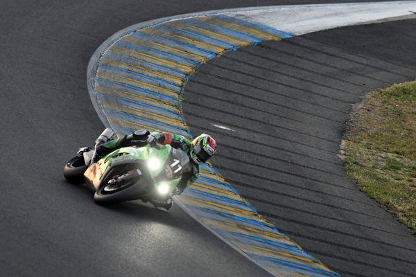 Le Toulousain Guarnoni lors des 24 Heures Moto du Mans