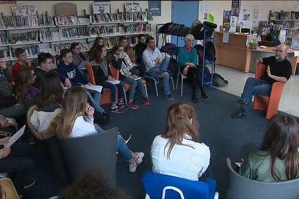 L'auteur jeunesse Yves Grevet a rencontré cette semaine des élèves de la ville de Sées dans l'Orne, dans le cadre du salon du livre