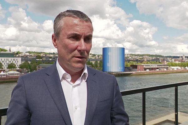 Jean-Louis Louvel à Rouen, sur l'une des terrasses du Hangar 107 en juin 2019