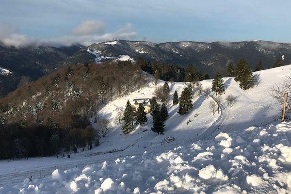 Juste en-dessous du Markstein, le chalet du Treh, à 1.150 mètres d'altitude.