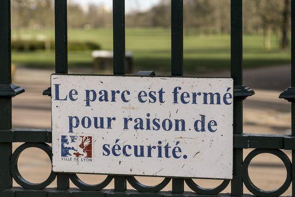 Le parc de la Tête d'or, à Lyon, est également fermé.