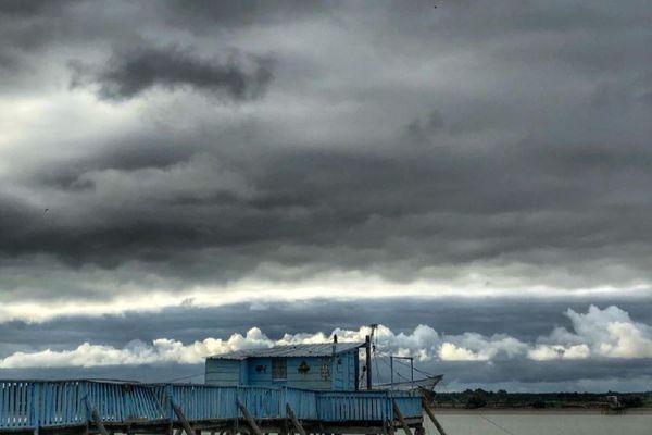 Ciel nuageux en Charente mais le paysage reste sublime