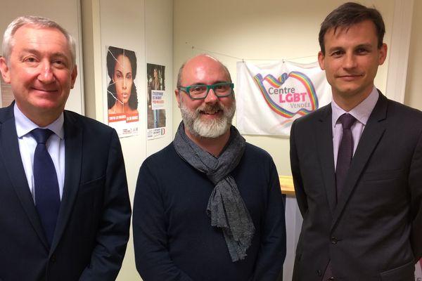 Frédéric Potier,  délégué interministériel à la lutte contre le racisme, l'antisémitisme et la haine anti-LGBT a profiter de sa visite pour aller soutenir le centre LGBT de Vendée, à la Roche-sur-Yon.