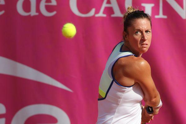 Pauline Parmentier, le 3 mai lors de l'Open de tenis de Cagnes-sur-Mer