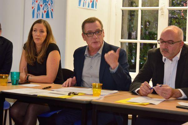 Denis Sommer présente officiellement sa candidature à Montbéliard aux municipales 2020 devant les journalistes.