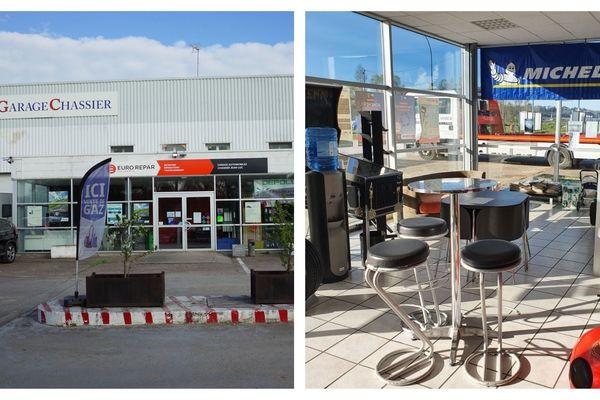 Le garagiste d'Onzain propose son parking, ses douches et sa cafétéria aux routiers qui veulent faire une pause.